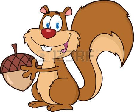 22583648 squirrel personnage de dessin anim mignon de mascotte holding a acorn